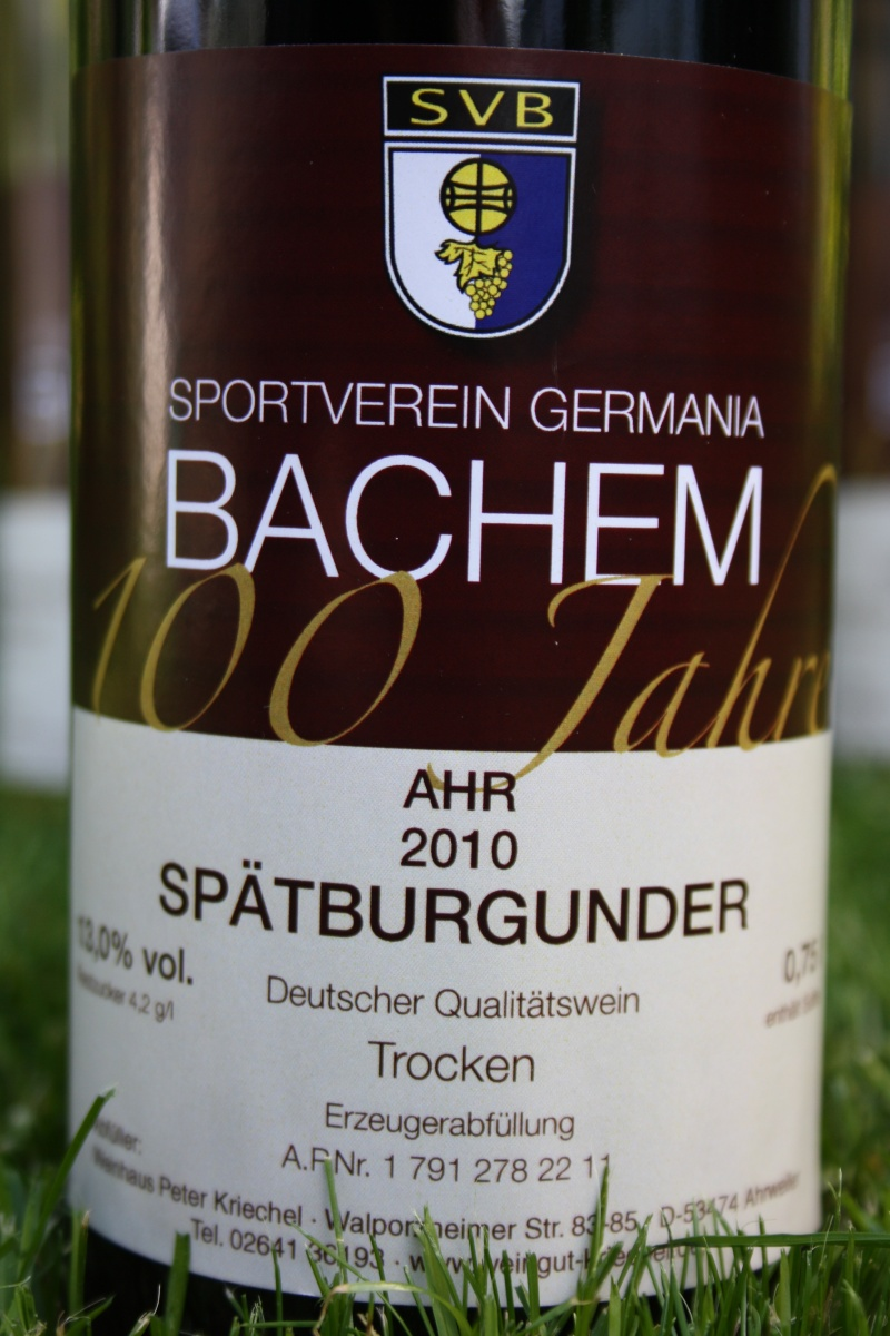 Jubiläumswein 100 Jahre SV Bachem Img_6824