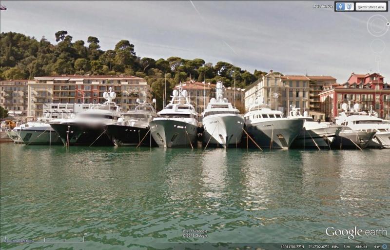 Boat view, street view se jette à l'eau Nice10