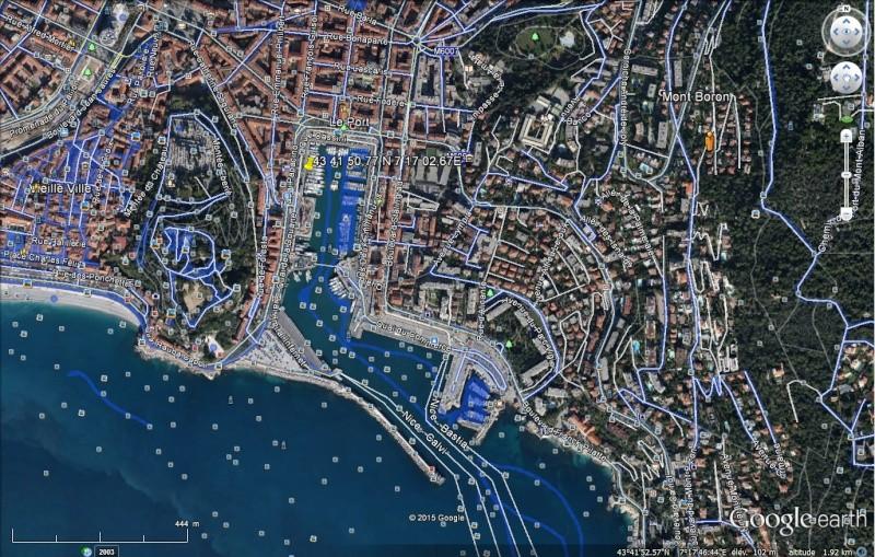 Boat view, street view se jette à l'eau Nice210