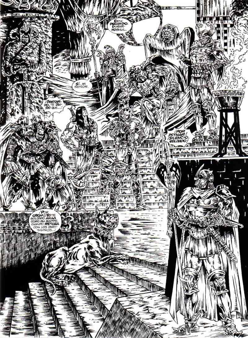 Peor portada/dibujo/ilustración de Conan X10