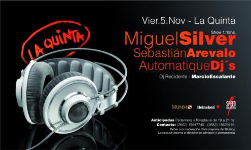 > MIGUEL SILVER + SEBA AREVALO - La Quinta, san luis (05.11.10) Flyer_11