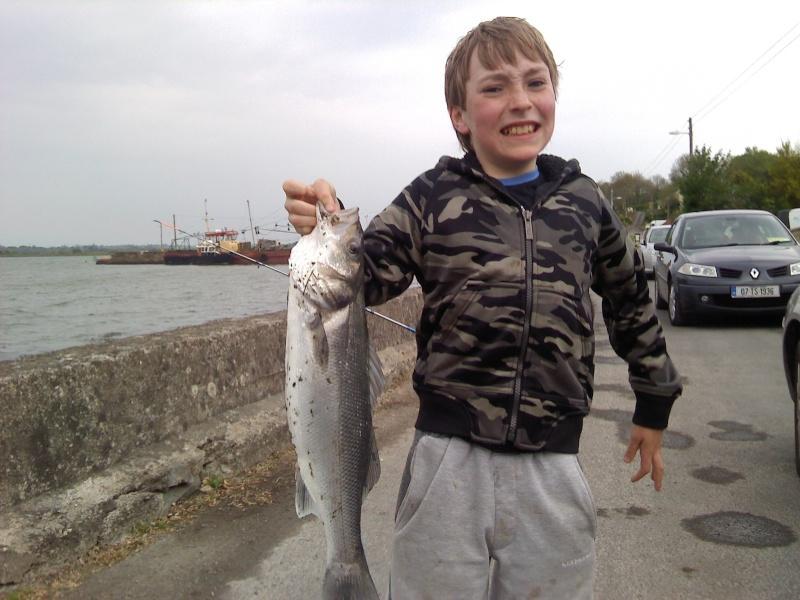 Jack Noonan First Bass caught at Cheekpoint Wall Jackba10