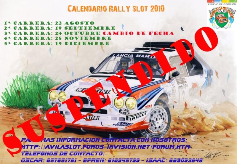 Se suspende el campeonato de rally Calend12