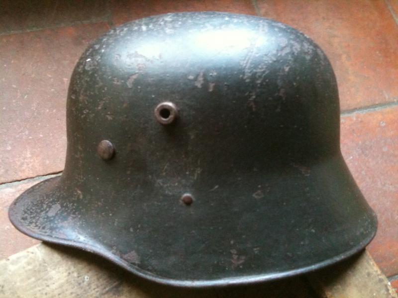 coque de casque WWI reconditionné WWII. 10_sep10