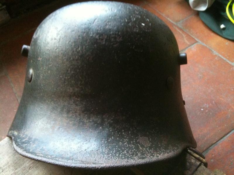 coque de casque WWI reconditionné WWII. 10_sep11