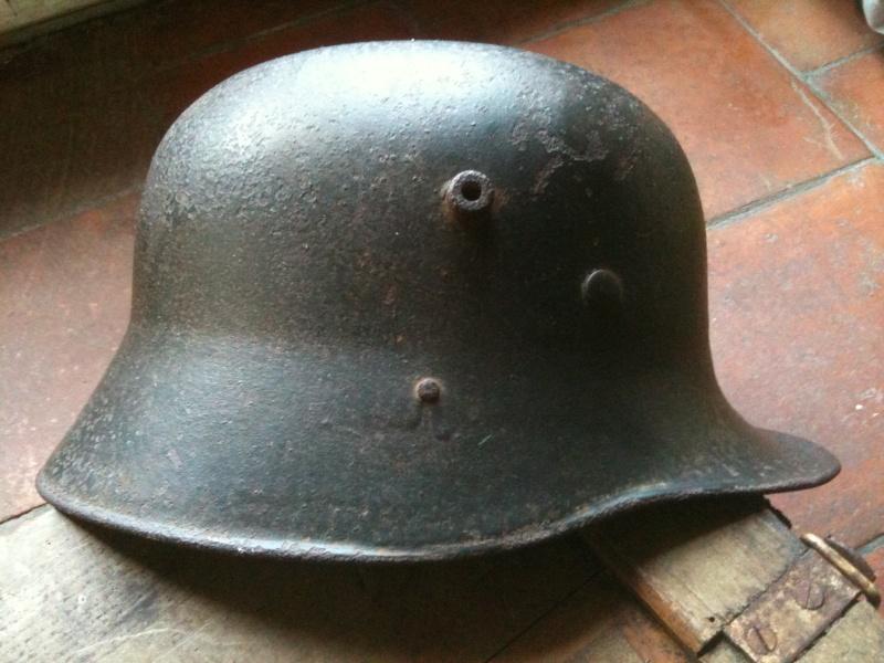 coque de casque WWI reconditionné WWII. 10_sep12