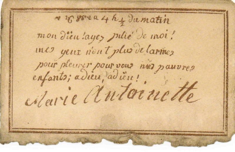 Les dernières lettres de Marie-Antoinette Img21910