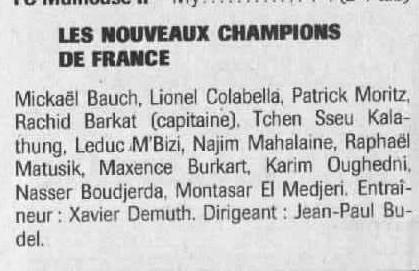 [Futsal] Le FCMII champion de France en 2003-04 Champi10