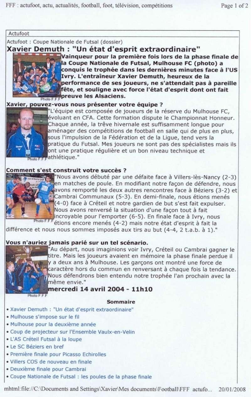 [Futsal] Le FCMII champion de France en 2003-04 Futsal10