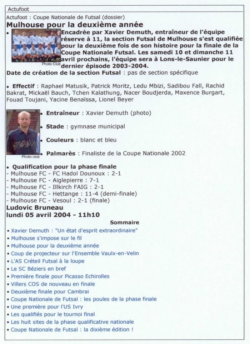 [Futsal] Le FCMII champion de France en 2003-04 Futsal11
