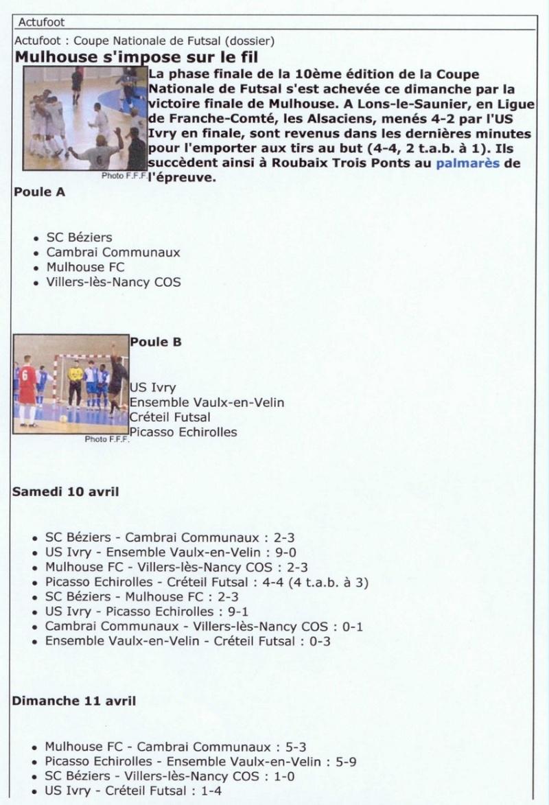 [Futsal] Le FCMII champion de France en 2003-04 Futsal12