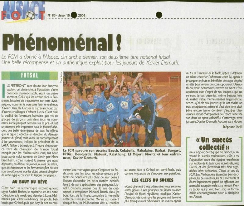 [Futsal] Le FCMII champion de France en 2003-04 Phanom10