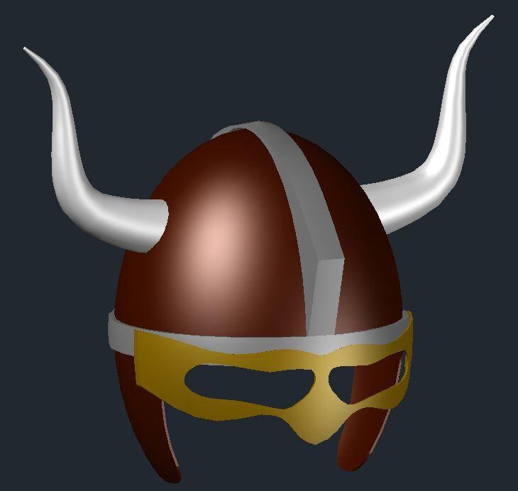 [作品]牛角盔-感謝志強前輩的教程 310