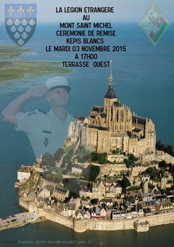 Une remise de képis blancs au Mont Saint-Michel, le 3 novembre 25763310