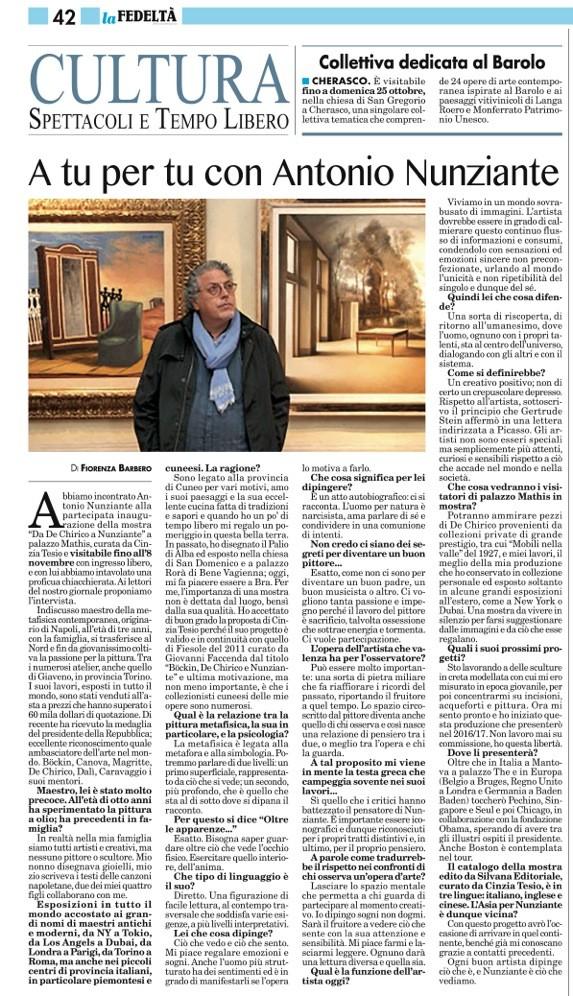 """Articolo dedicato al Maestro Nunziante su """"La fedeltà"""" Cid_c210"""