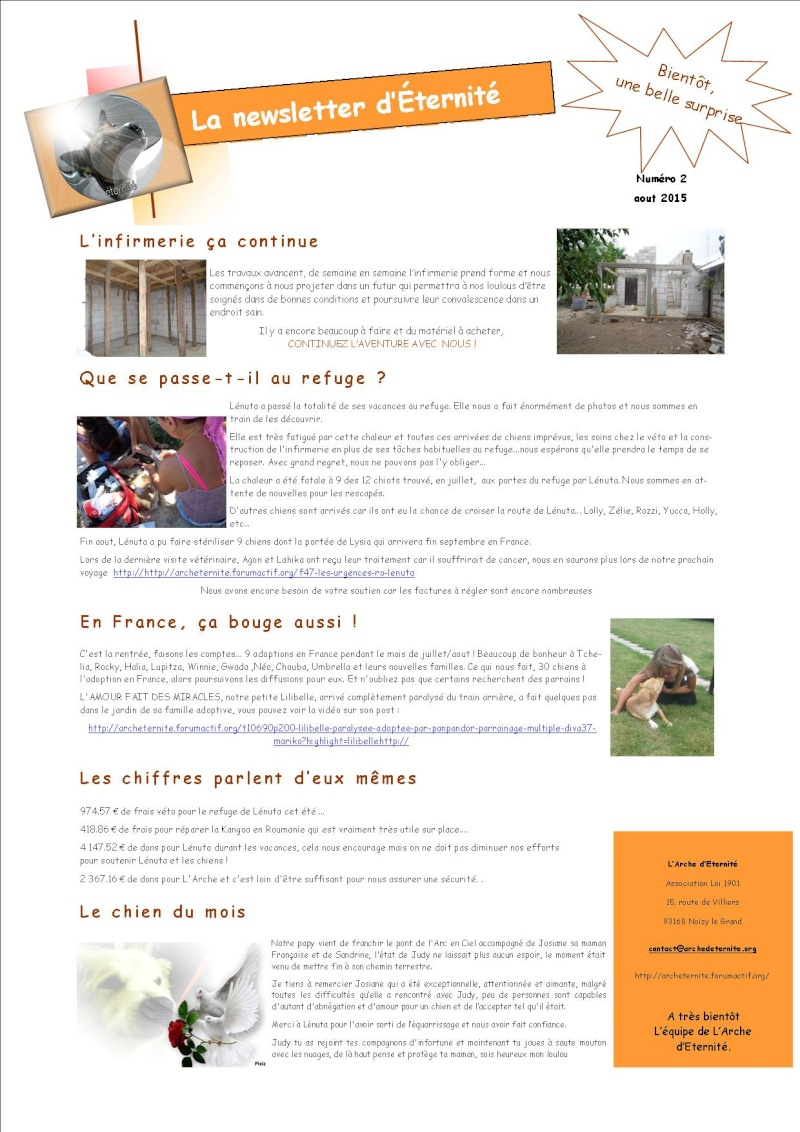LA NEWSLETTER D'ETERNITE MENSUELLE Newsle10