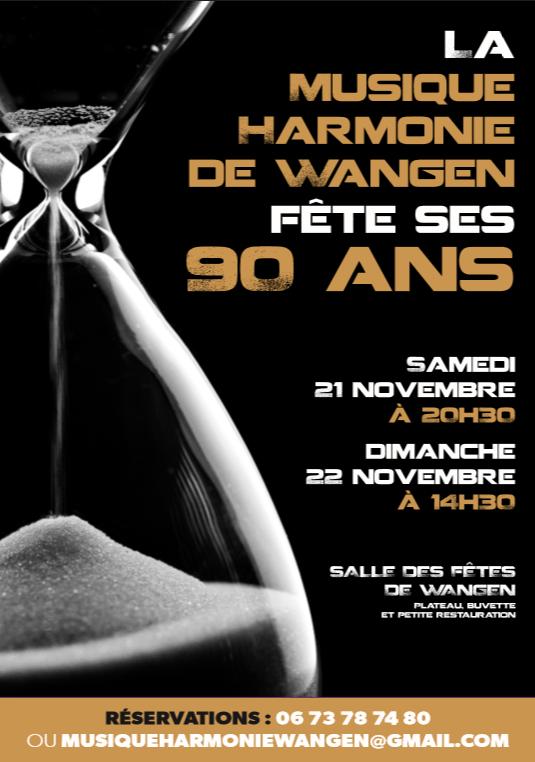 La Musique Harmonie de Wangen fête ses 90 ans les 21/22 novembre 2015 12106810