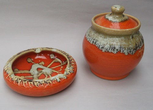 Check out this orange glazed Rhodes looking ashtray! Beach10