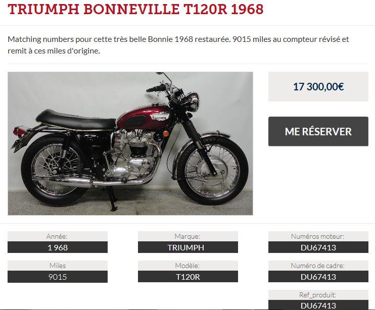 TRIUMPH BONNEVILLE T120R 1968 - Page 3 Annonc10