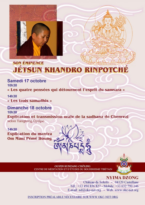 Jetsun Khandro Rinpoché à Nyima Dzong oct  2015 174e4511