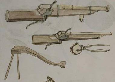 [pièce d'artillerie] hacquebute de rempart 1450-1470 43_14911