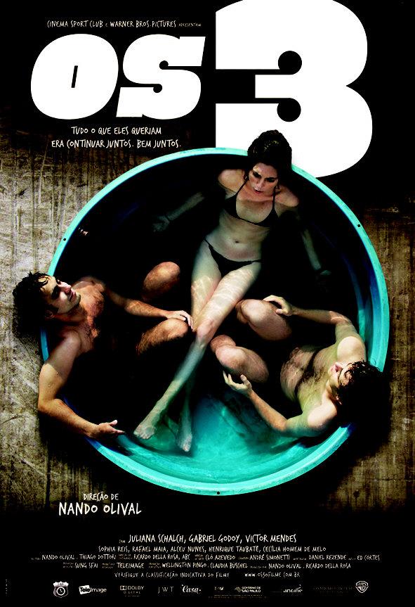 Os 3: Triângulo amoroso jovem vira reality show em filme de Nando Olival Poster10