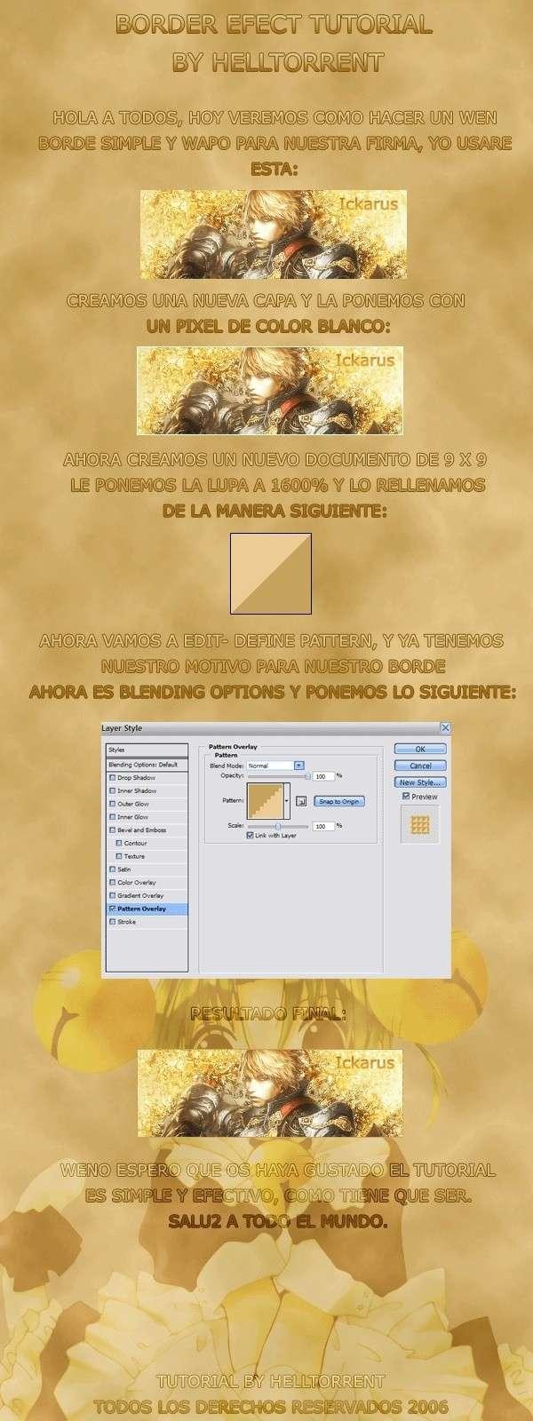 Diseño Marco Sencillo Border10