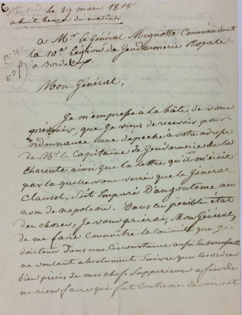 une lettre une histoire : 29 mars 1815 Mignot10