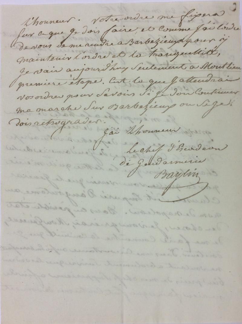 une lettre une histoire : 29 mars 1815 Mignot11