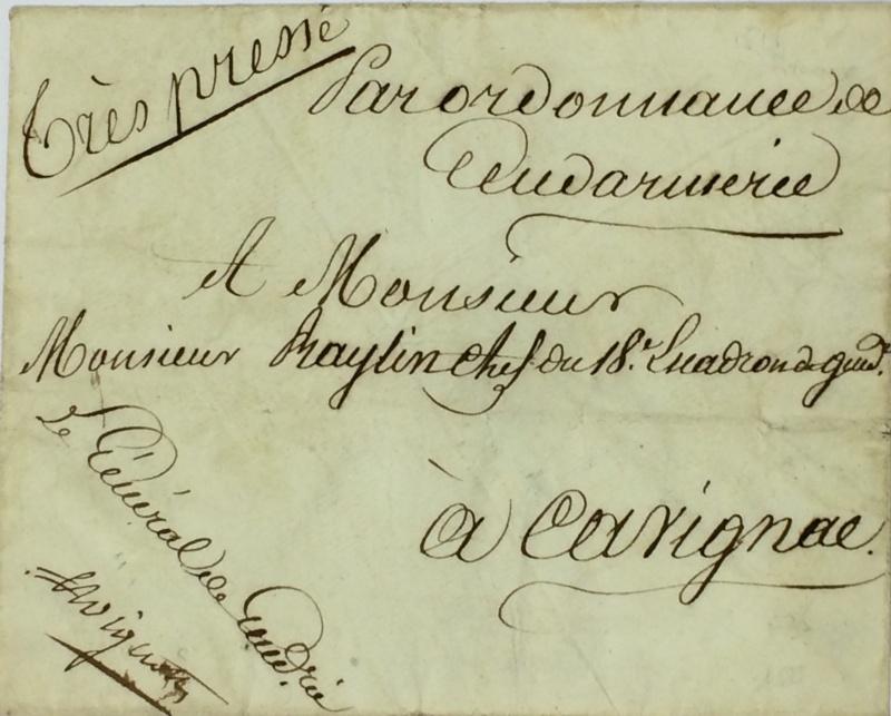 une lettre une histoire : 29 mars 1815 Mignot12