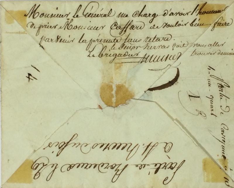 une lettre une histoire : 29 mars 1815 Mignot13