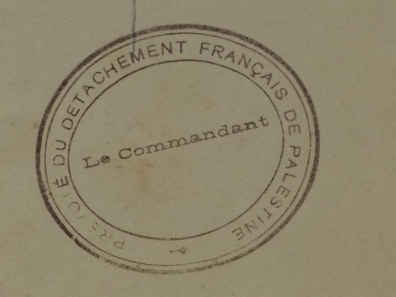 Prévôté du Détachement français de Palestine Palest12