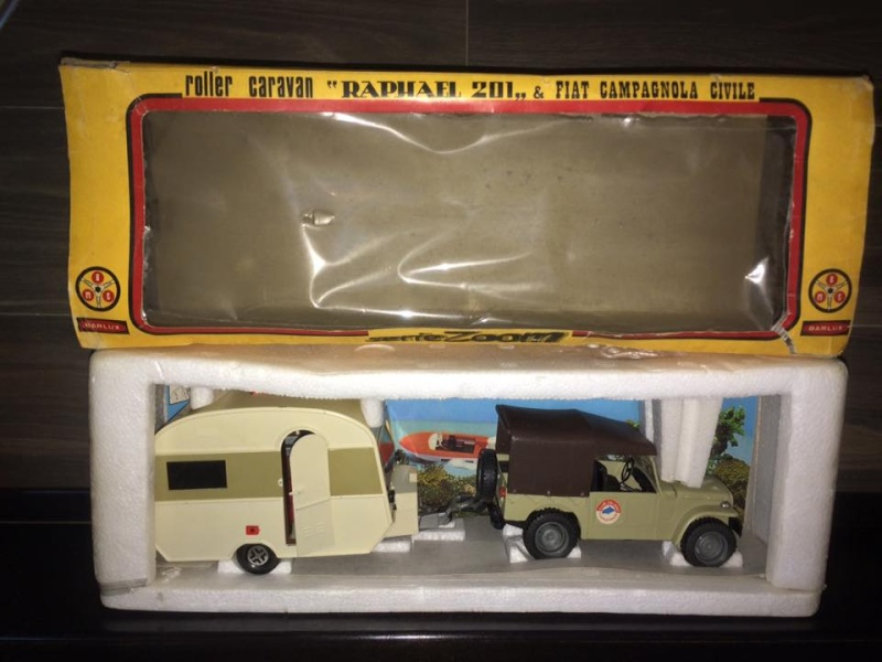 Fiat Campagnola Roller Caravan Raphael 201  Barlux Box No Mebetoys Politoys rara 11709510