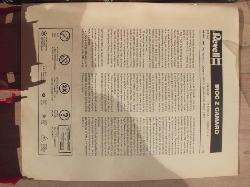 #17 : Chevrolet Camaro IROC Z28 5.7 TPI 1987 [3 terrminées] - Page 2 Dscf0023