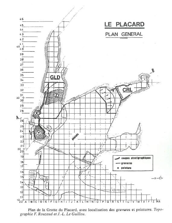 1.2.2. LA GROTTE DU PLACARD (Commune de Vilhonneur). Plan-g10