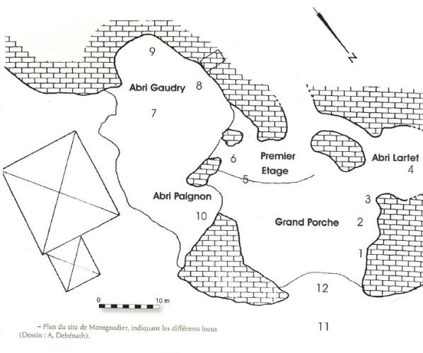 1.2.5. LA GROTTE DE MONTGAUDIER (Commune de Montbron). Plan_m10