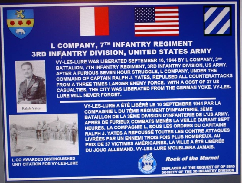 ROCK OF THE MARNE  Plaque10
