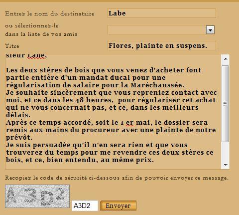 Dossier LABE/FLORES  Affaire classée le 16 mai 1459 Labe10