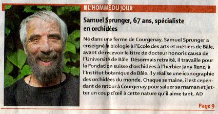 Journal Quotidien jurassien - 23/09/2010 - un champ de maïs devenu prairie fleurie Quot_j10