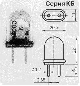 Вакуумированные резонаторы в стеклянных корпусах. Kb10