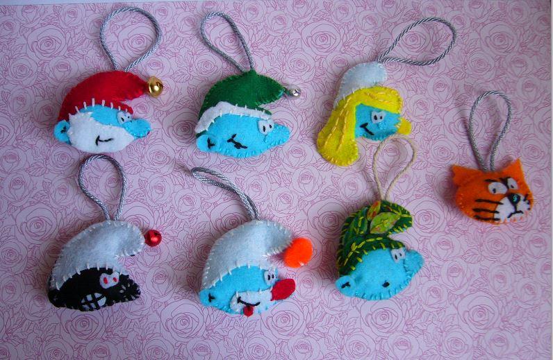 schtroumpfs au crochet  et couture  - Page 3 Feutri10