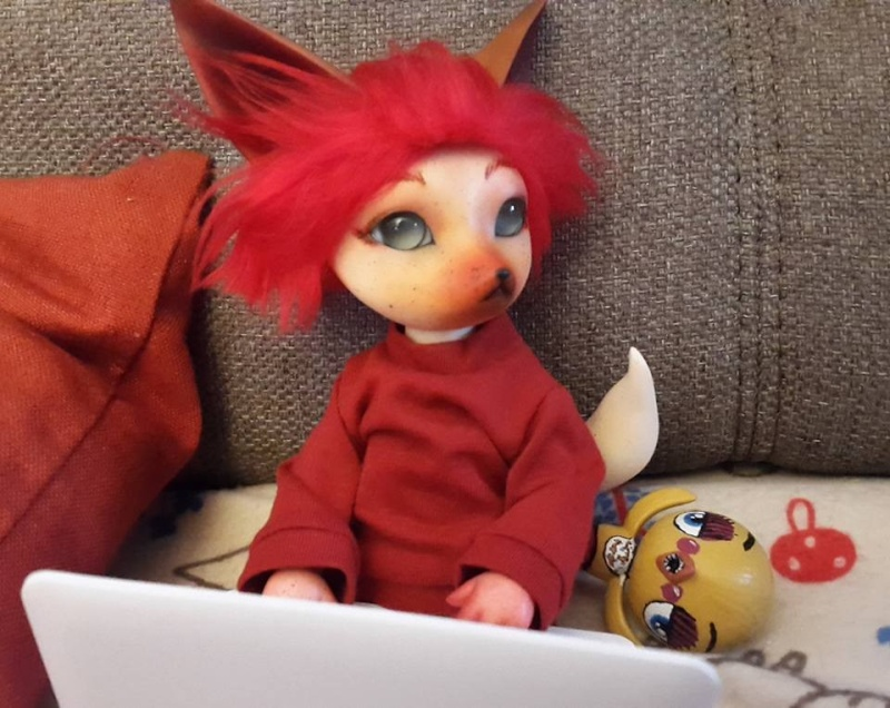 [Popidoll Fox] Goupix et Goupixia le duo de renard geek 0310