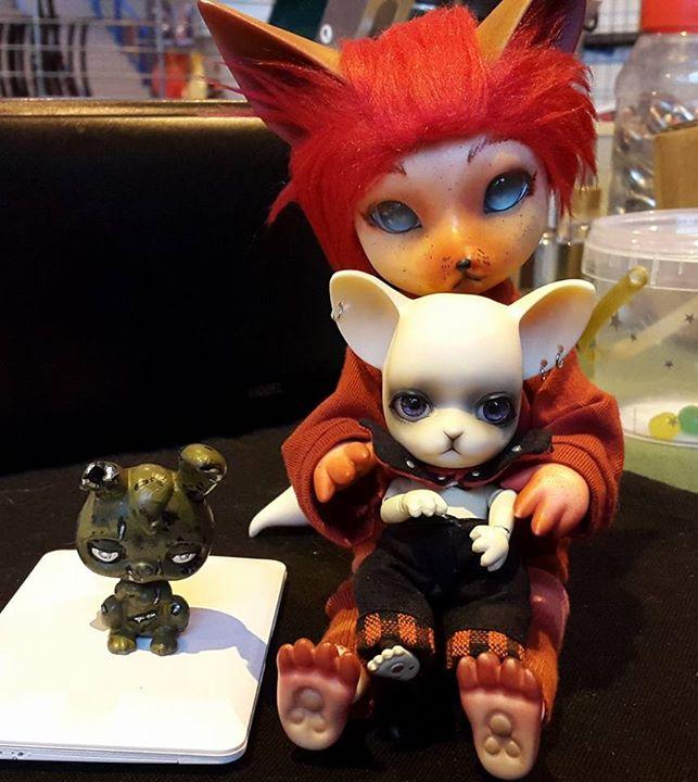 [Popidoll Fox] Goupix et Goupixia le duo de renard geek 0512