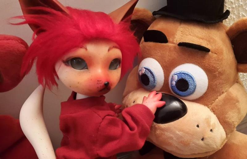 [Popidoll Fox] Goupix et Goupixia le duo de renard geek 12047010