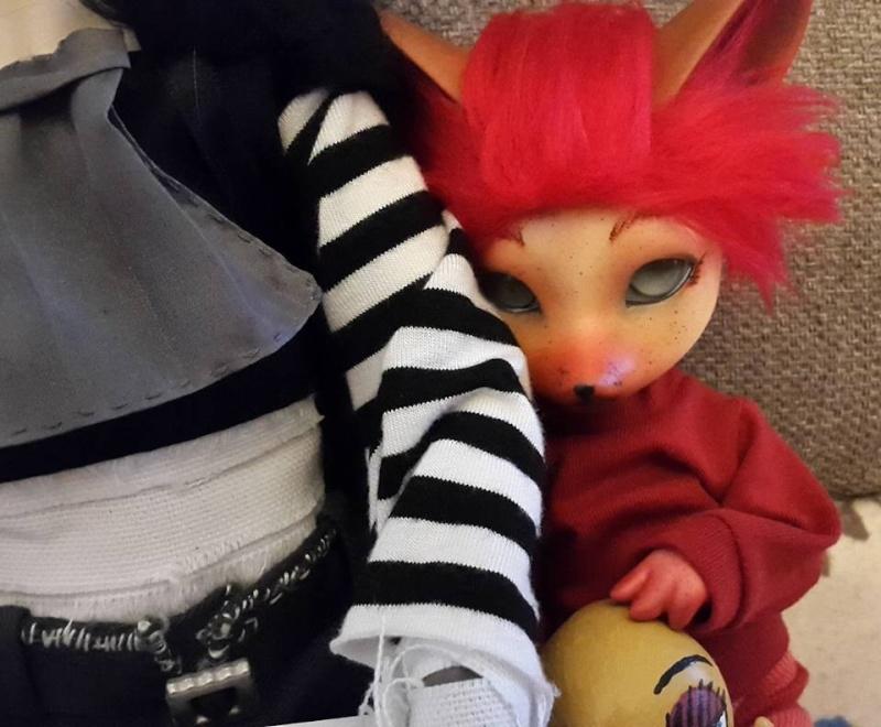 [Popidoll Fox] Goupix et Goupixia le duo de renard geek 1310
