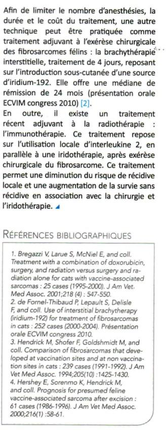 Le fibrosarcome félin Fibros13
