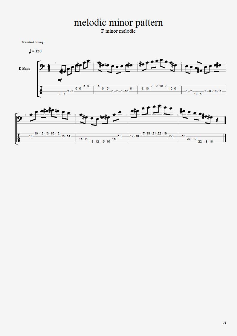 Melodic minor pattern Melodi10