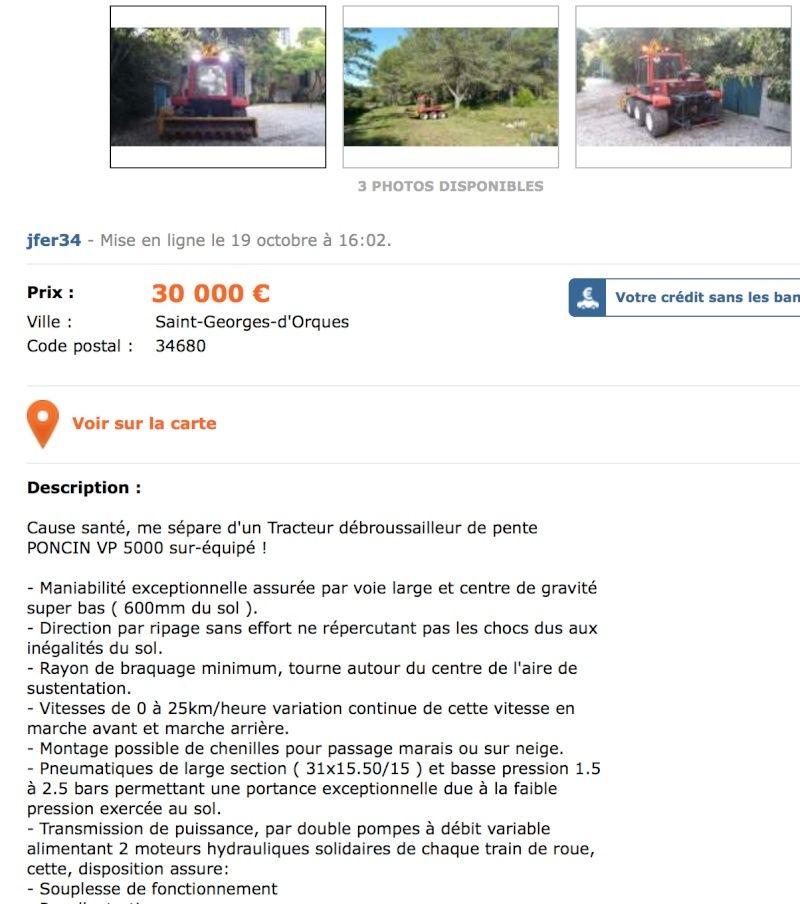 LBC: Tracteur de pente débroussailleur VP 5000 Captur24