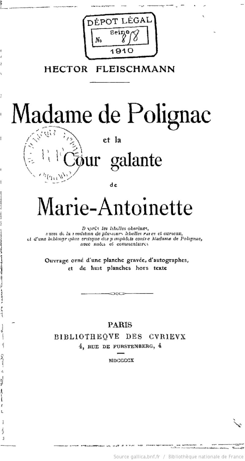 Marie-Antoinette, victime des pamphlets Bpt6k510