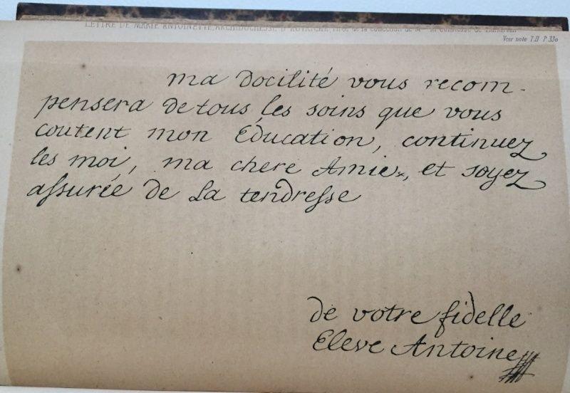 Mot de Marie Antoinette à sa femme de chambre. 19 avril 1770 Captur10